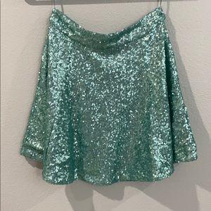 NWOT Sequin Skirt size XS